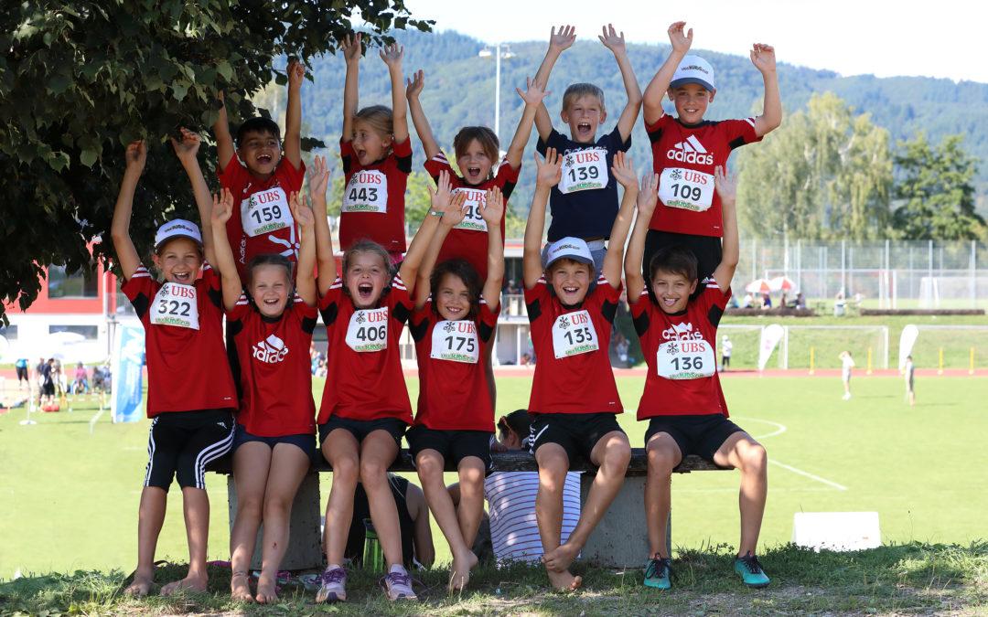 Unsere Jugend am Final des UBS-Kids-Cup und am Aargauer Final Swiss Athletics Sprint 2019